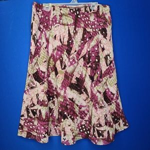 Vintage a-line skirt with geometric pattern